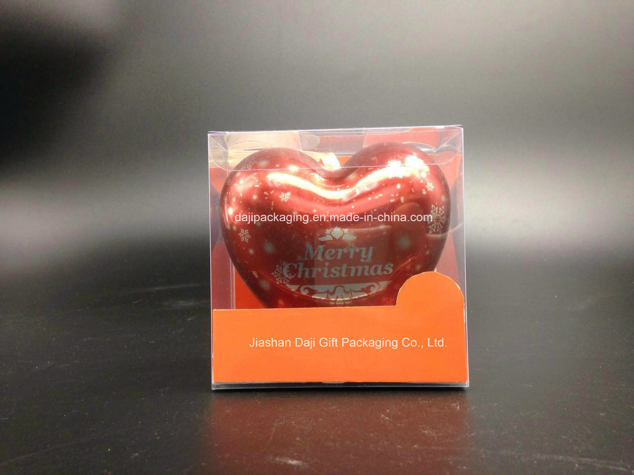 Heart-Shaped Metal Tin Packaging Box (H001-V5)