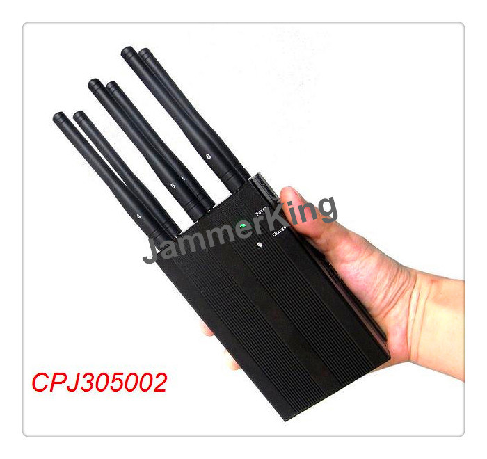 China 6 Antenna Selectable Portable GPS Lojack 4G Wimax Phone Signal Jammer - China 6 Antenna Jammer, Portable Jammer