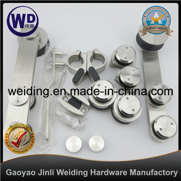 Bathroom Glass Sliding Door Hardware Set Wt-901