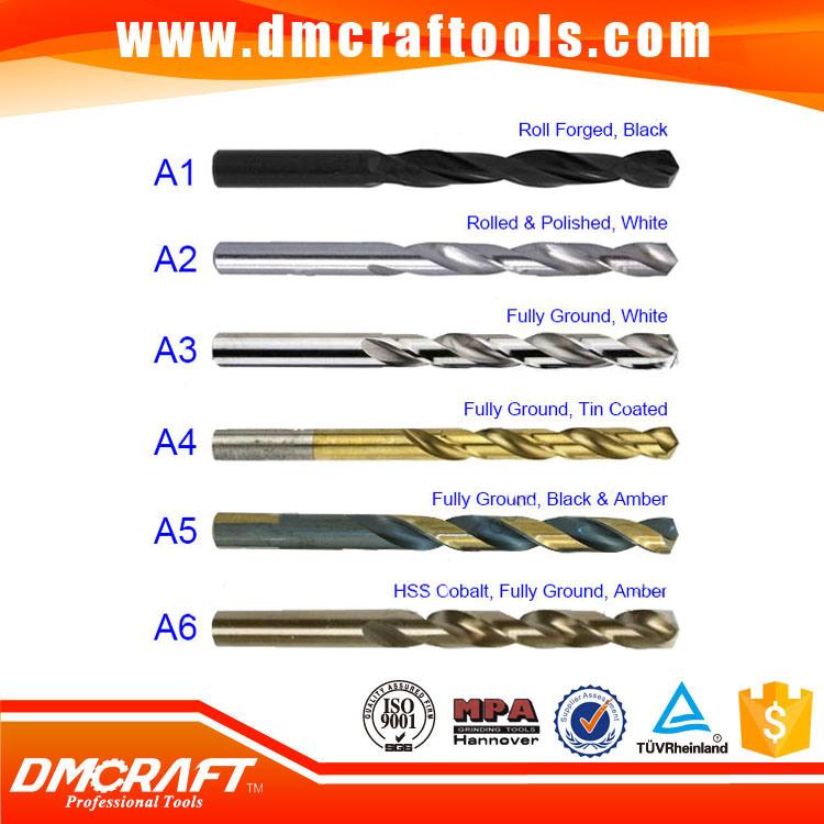High Quality DIN338/DIN340 HSS Straight Twist Drill Bit