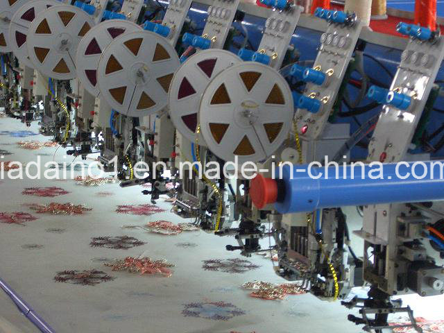 Cording and Double Sequin Embroidery Machine
