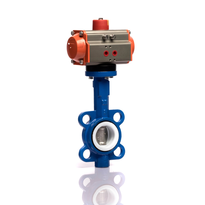 Pneumatic Actuator with Wafer Butterfly Valve