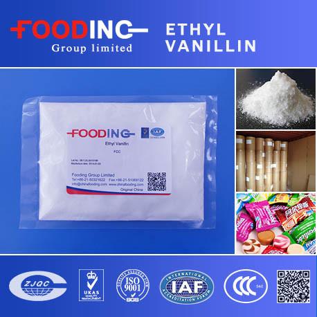 Food Flavouring Powdered Vanillin Ethyl Vanillin 99.5%