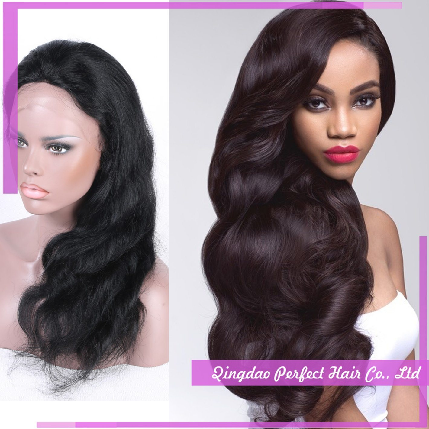 African American Top Quality Full Lace Front Human Hair Wigs
