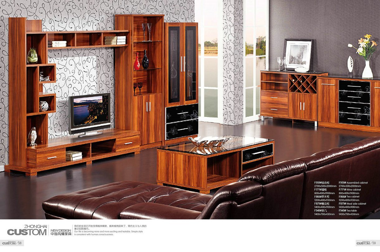 China Living Room Furniture Tv Wall Unit China Mdf Wall