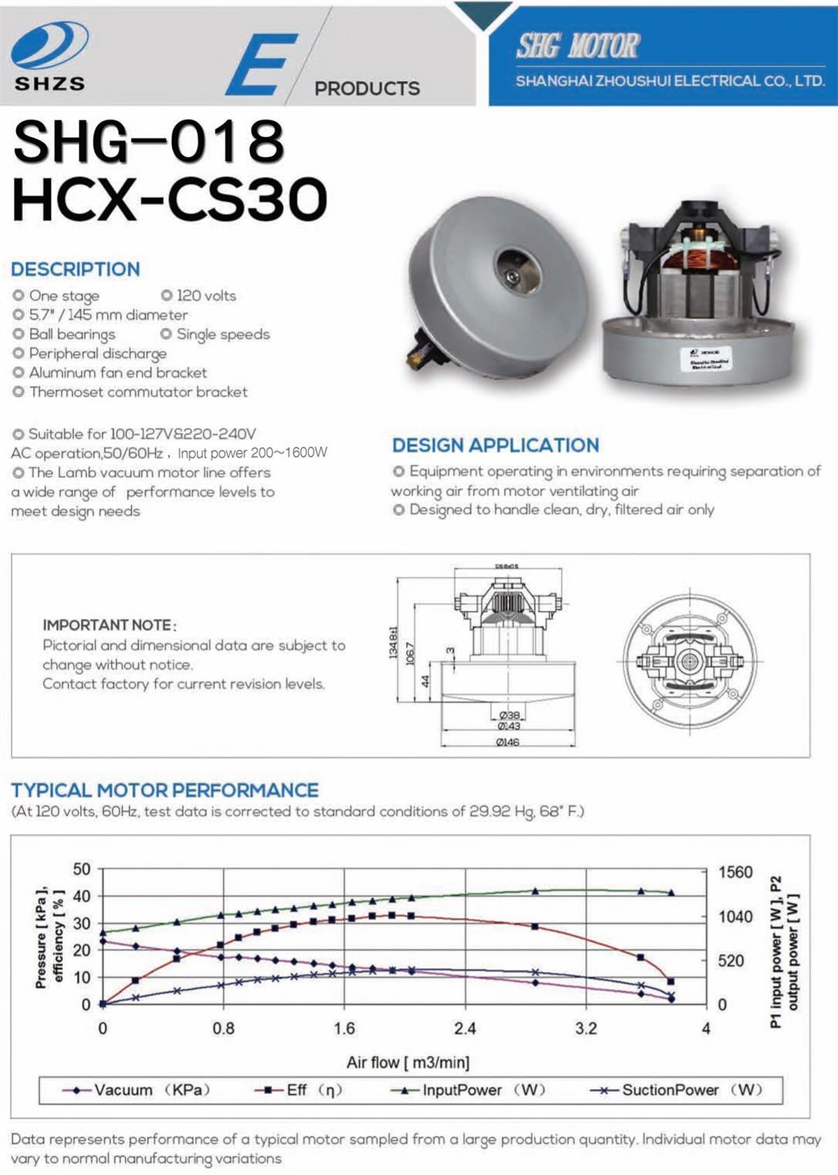 Dog Dryer Dry Vacuum Motor (SHG-018)