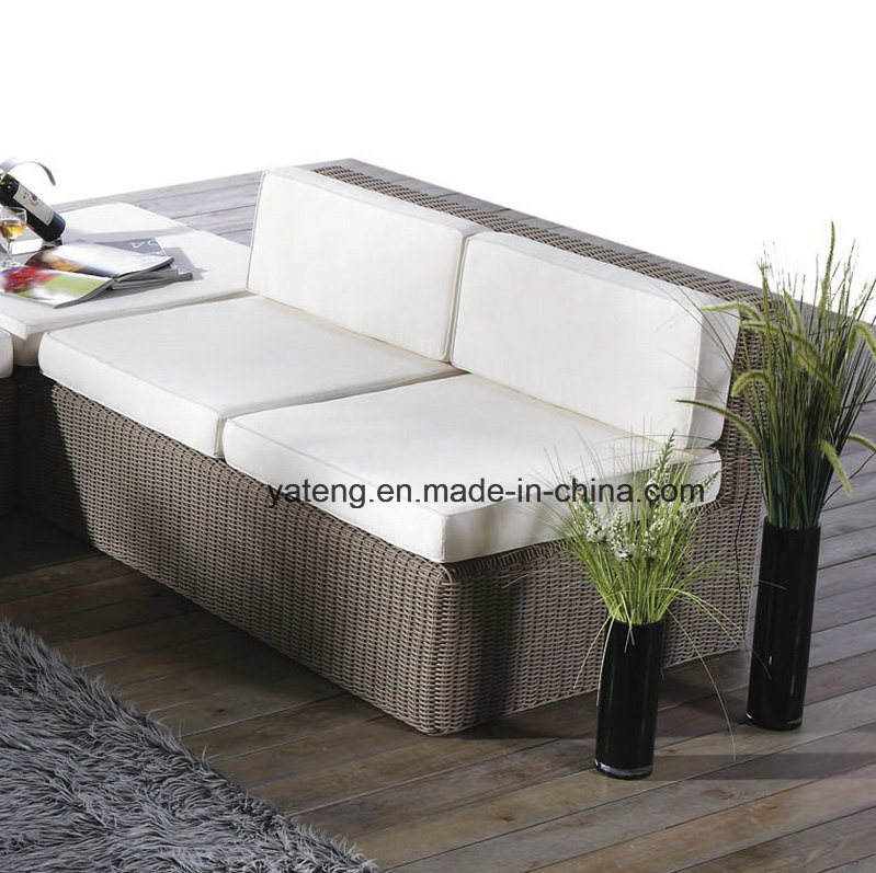 Popular New Simple Design Round Rattan Outdoor Furniture Lliving Sofa Bed (YT188) with Double &3seat Sofa