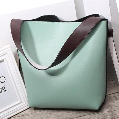 2017 Hot Fashion Lady Leather Tote Bag Big Women′s Handbag with Pouch (EMG4701)