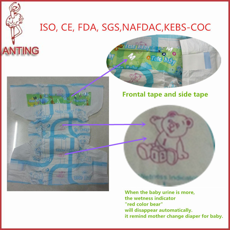 Own Brand Authorized Customers Sleepy Print Disposable Baby Diapers