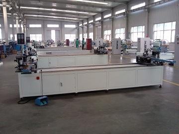 Aluminum Window Door Fabrication Machine CNC Four Corner Crimping Machine