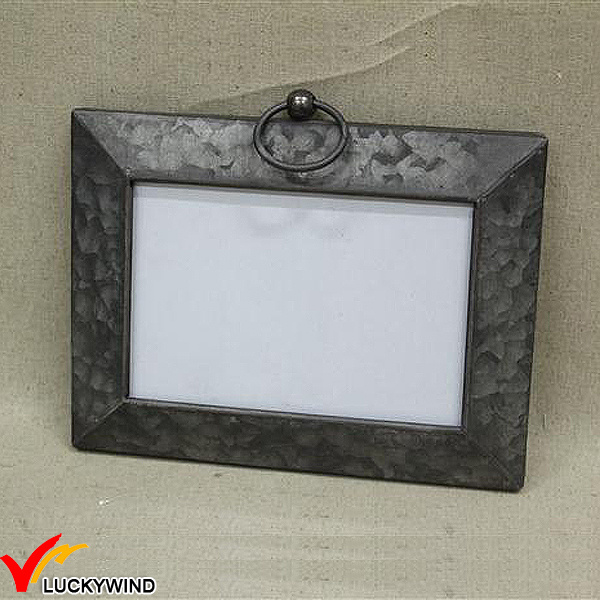 Vintage Industrial Metal Folding Hinged Photo Frame