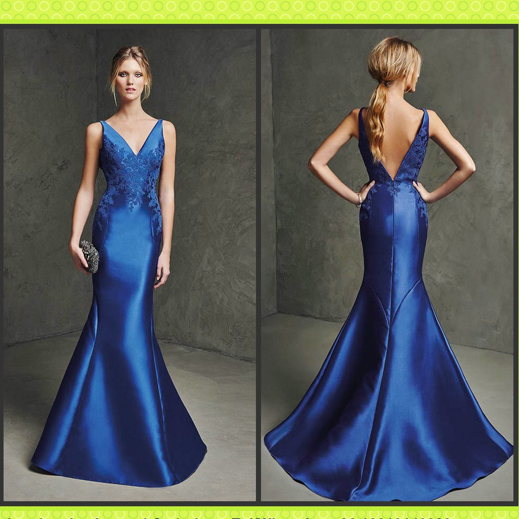 China Blue Satin Bridesmaid Formal Gown Cheap Evening Dress M2016 Photos Amp Pictures