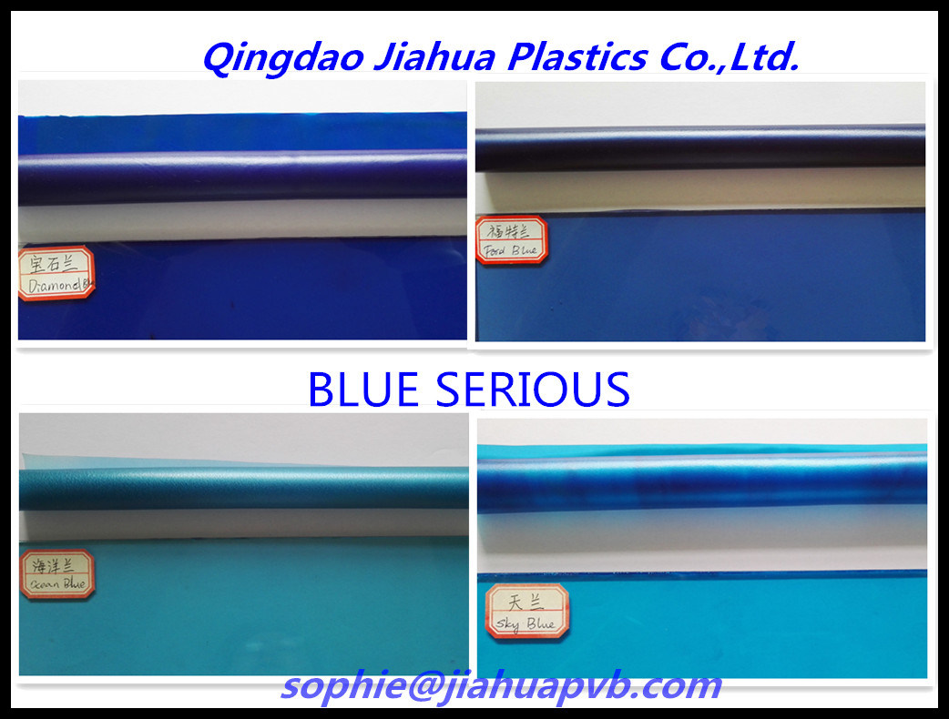Series Blue PVB Film for Decoration Laminated Glass