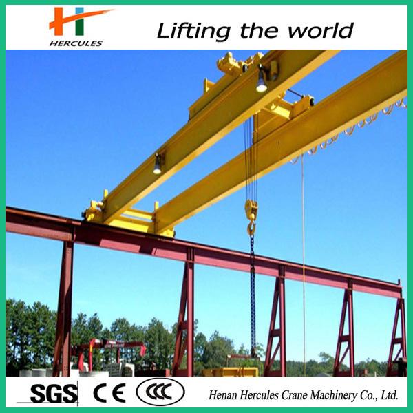Double Girder Bridge Crane with Carrier Beam
