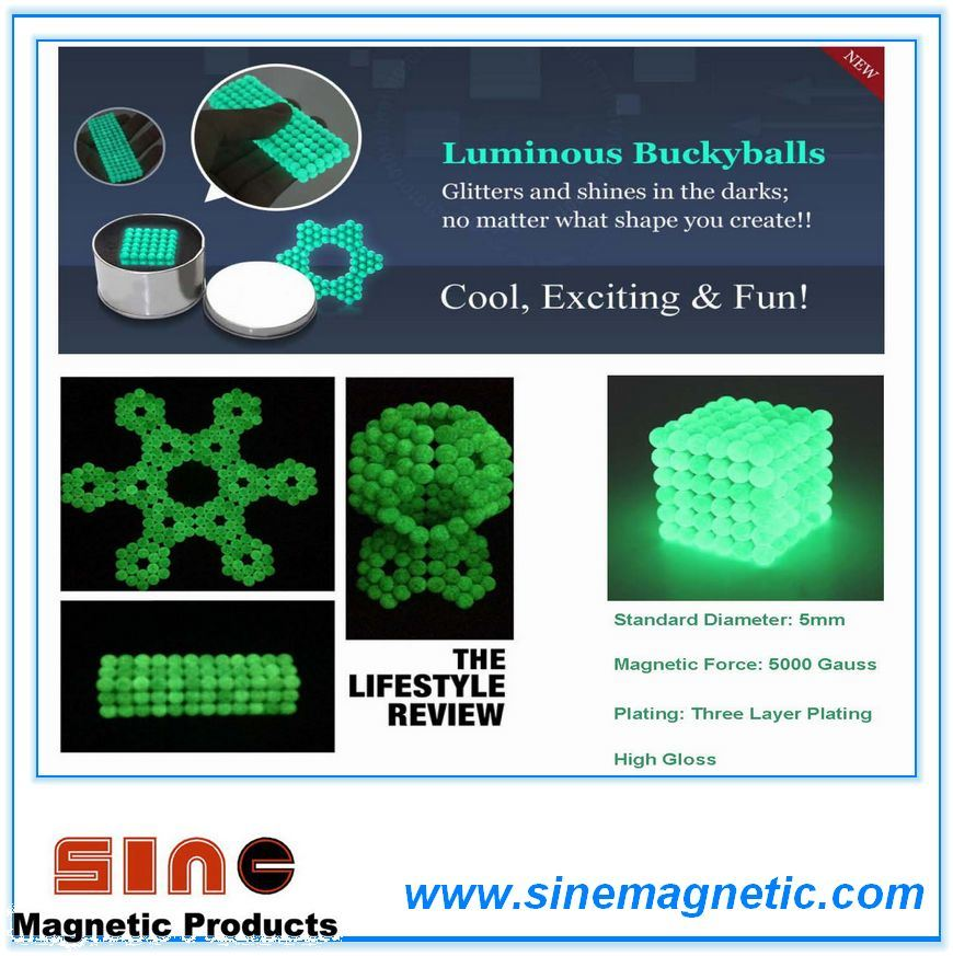 Luminous Magntic Neocube Buckyball & Glow in The Dark
