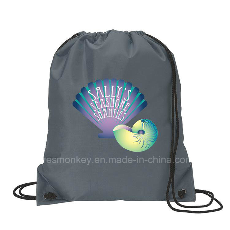 Eco Recyclable Drawstring Shopping Polyester Bag