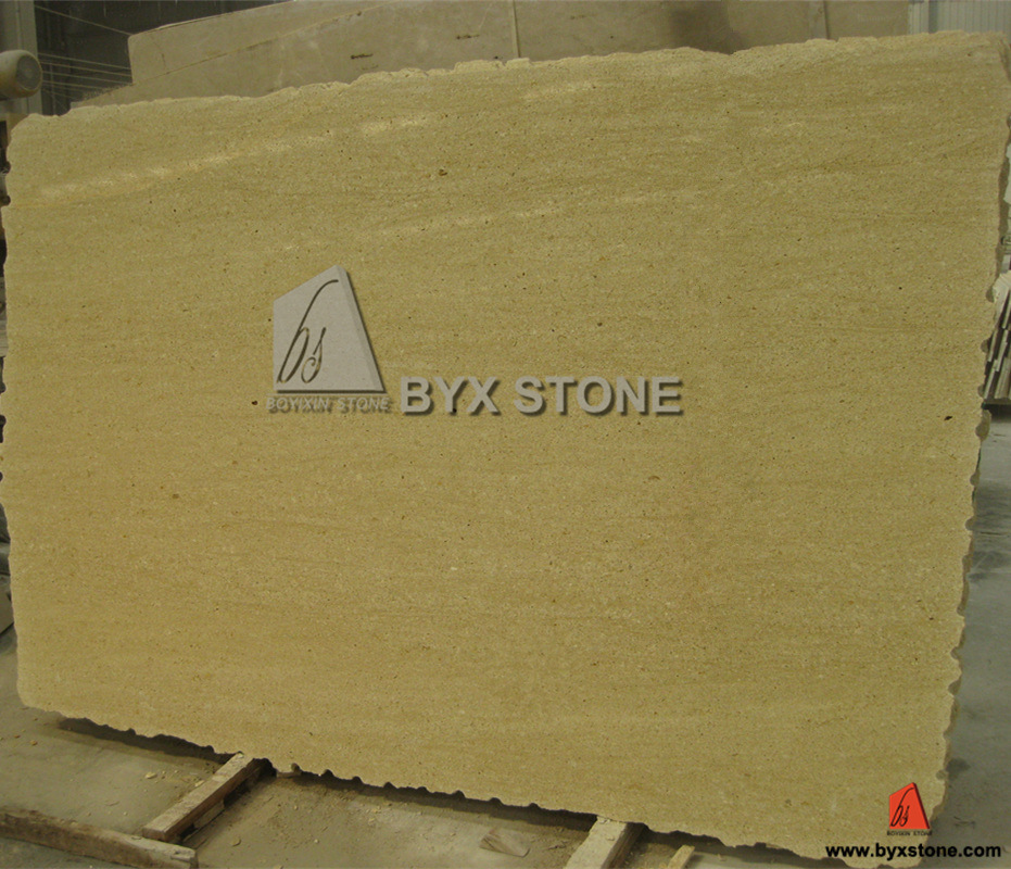 Imported Yellow Travertine Beige Marble Wall Cladding Slab