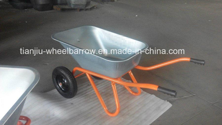 Wheelbarrow with Double Wheel Wb6418s