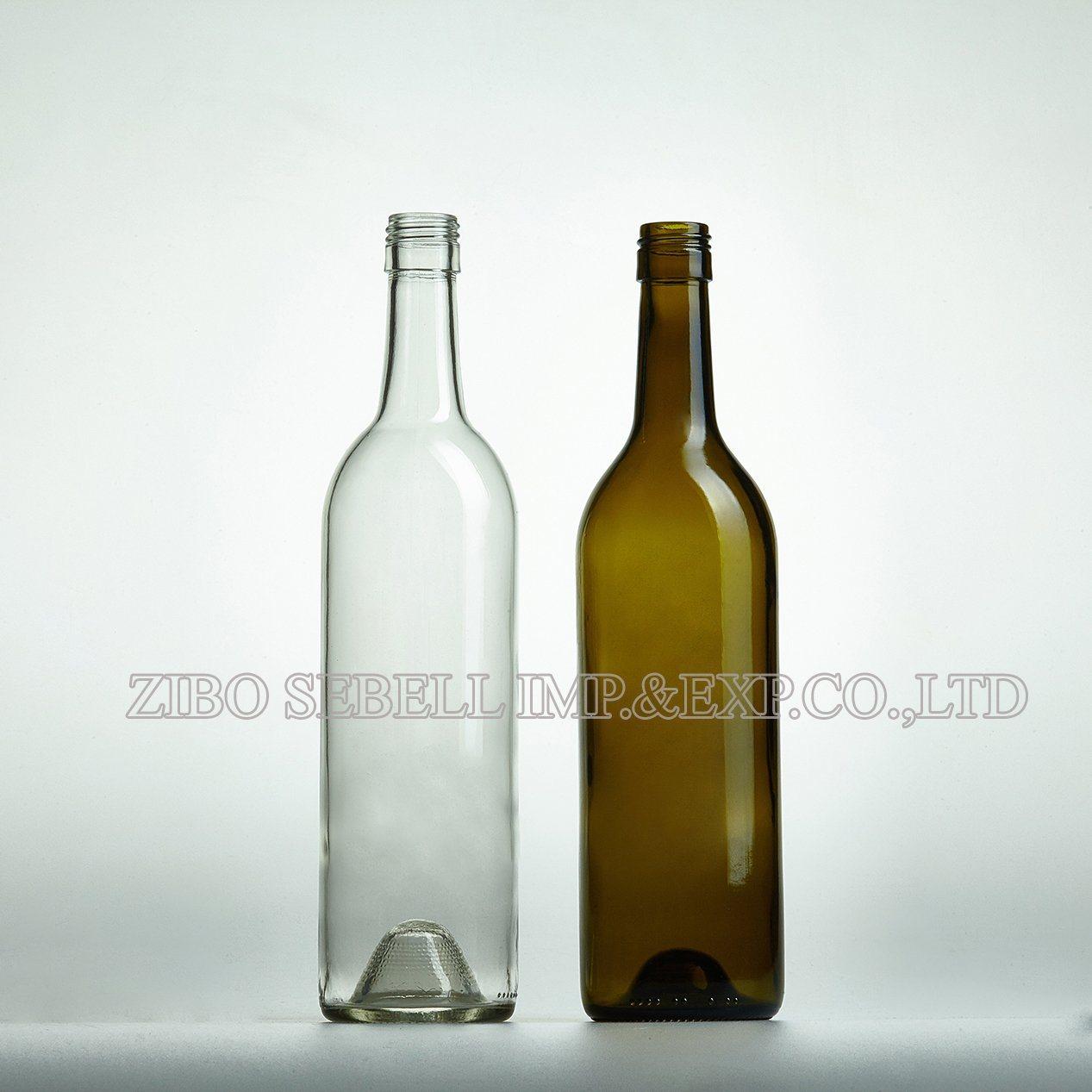 0.75LTR Bvs Closure Glass Wine Bottle Bordeaux Bottle