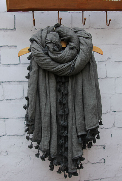 Fashion Silk Cotton Wool Linen Spring Autumn Scarf