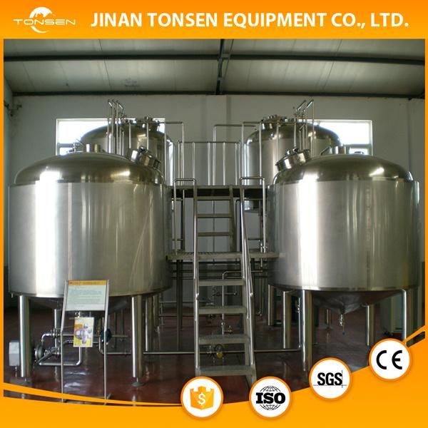Mash Tun Brewing Kettle in Fermenting System