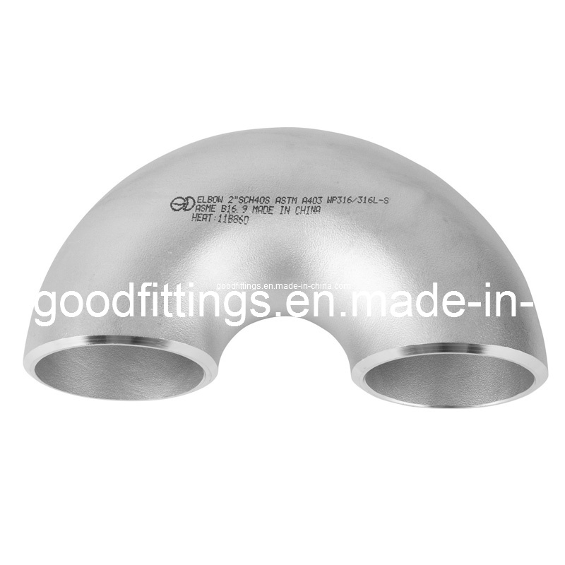 Seamless Stainless Steel 180 Welding Elbow with PED (12)