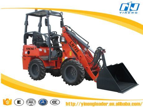 Yn725 Yineng Mini Wheel Loader 1t 0.5cbm Capacity