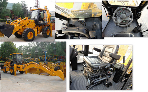 Yineng 2.5 Ton Backhoe Loader with Cummins Engine