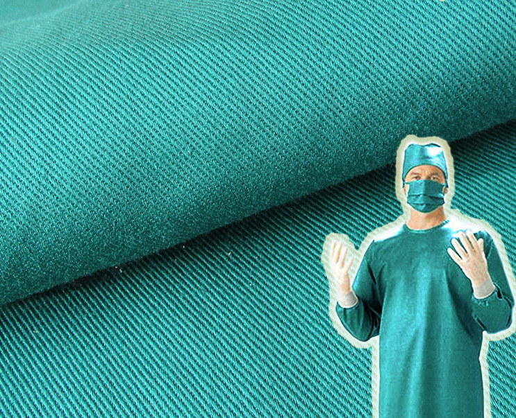 Cotton Twill 190GSM Hospital Medical Surgical Operation Doctor Fabric