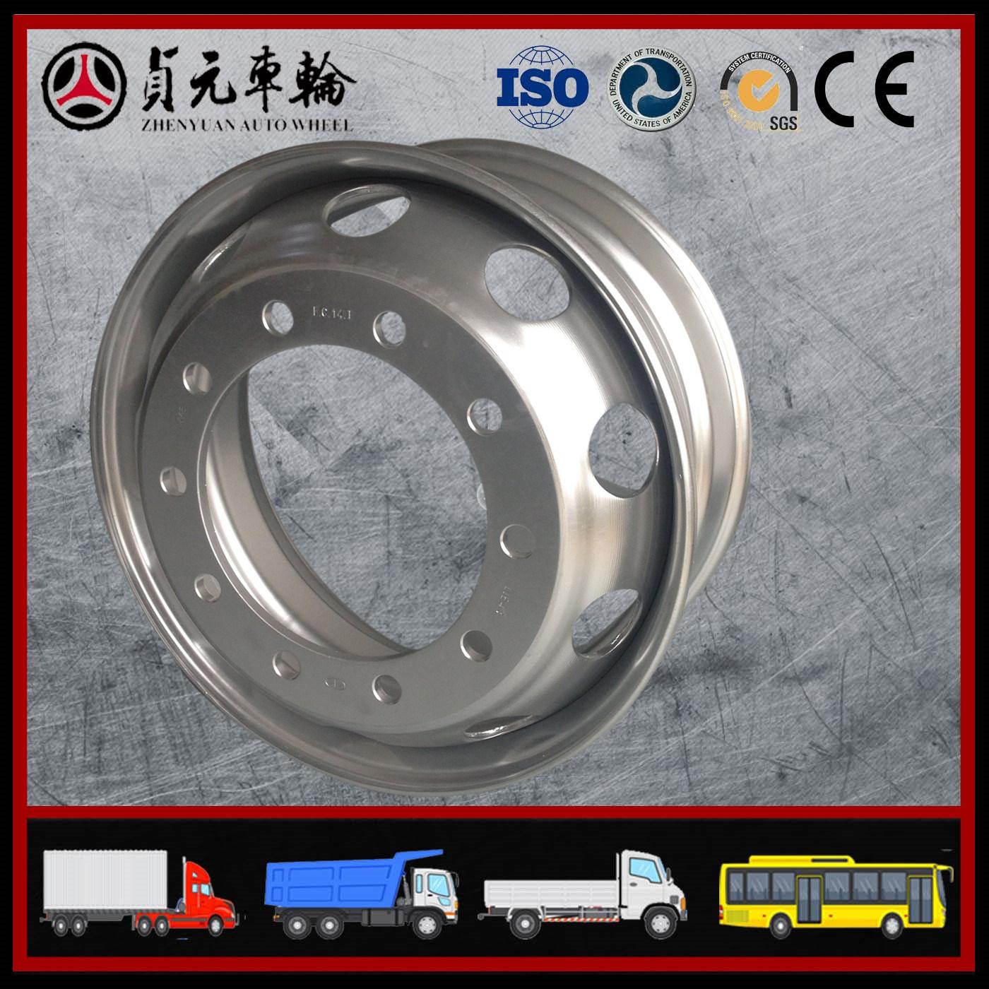 Tubeless Steel Wheel Rim, Heavy Truck Steel Wheel Hub, Bus Wheel, 22.5X11.75