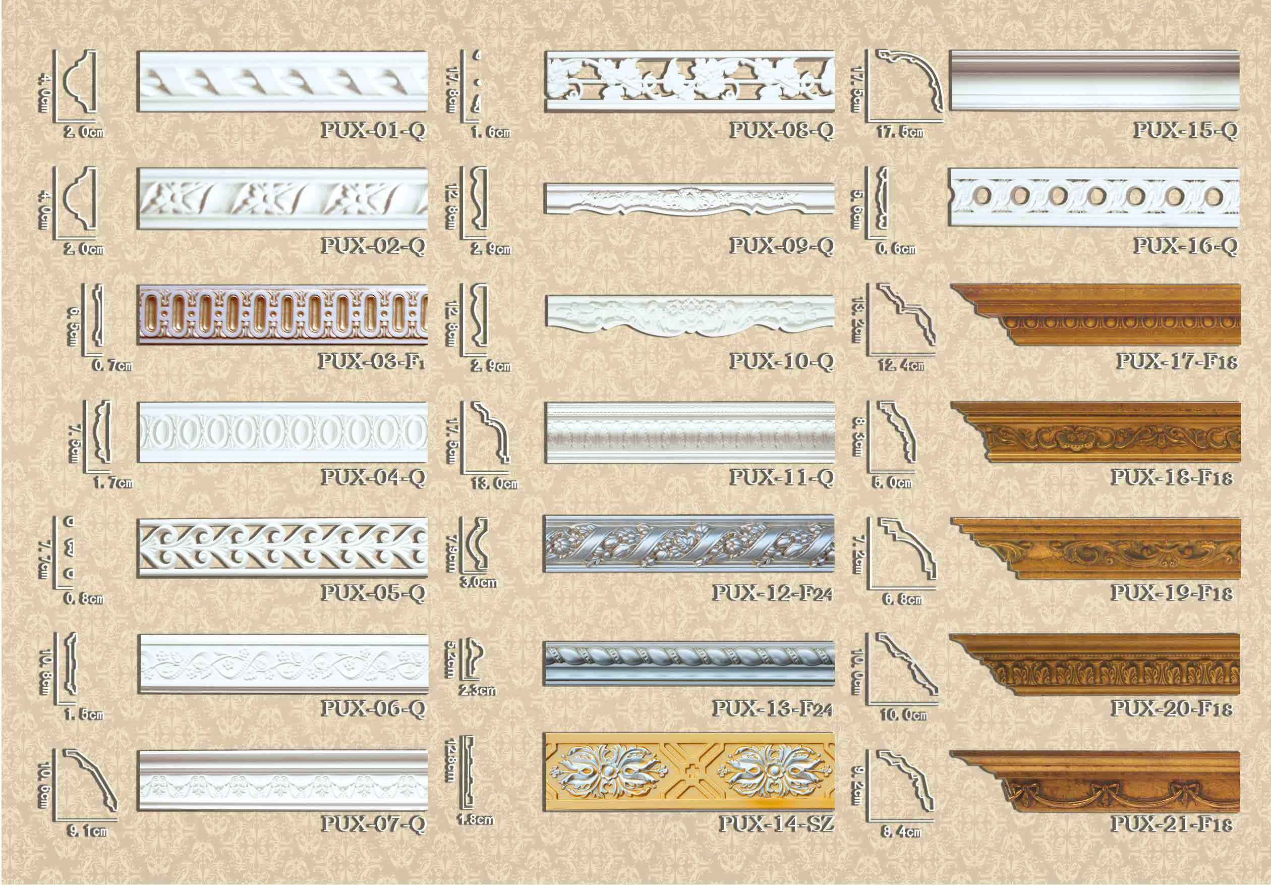 PU Decorative Ceiling Medallions Molding