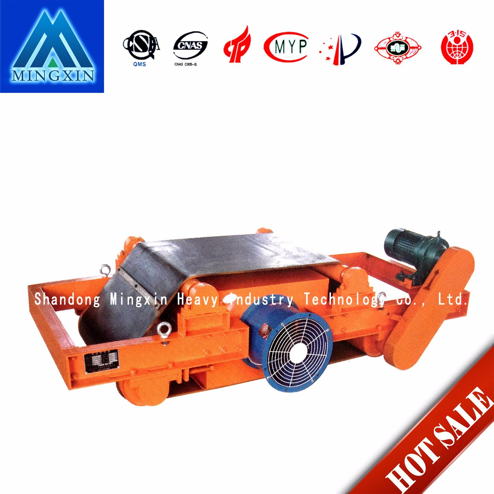 Rcdc- Air Cooling Type Self Discharging Electromagnetic Magnetic Separator of Mining Machine