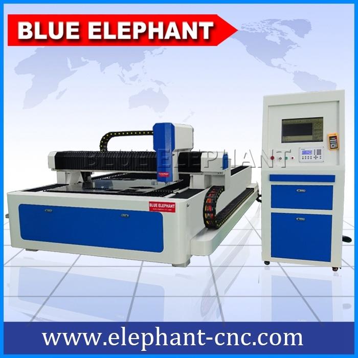 Ele 1530 CNC Fiber Laser Cutter, Carbon Fiber Laser Marking Machine for Steel, Metal