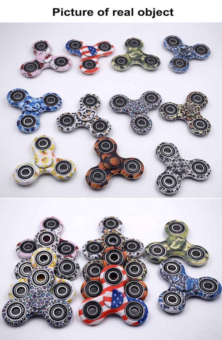 EDC Fidget Toy Hand Spinner Plastic Camouflage Spinner