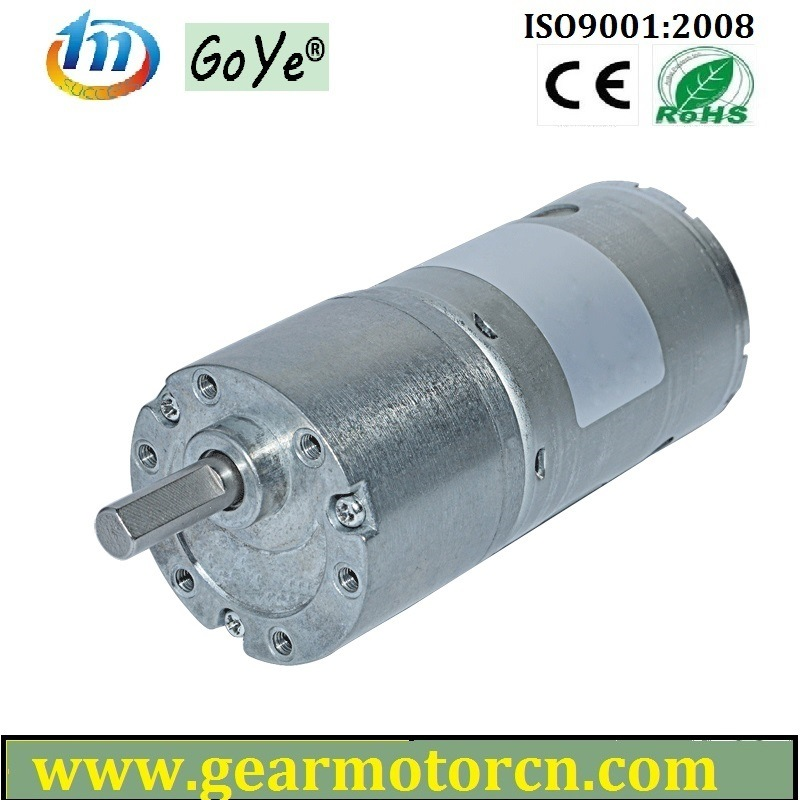 From 6V to 24V High Torque Low Noise Round 37mm Diameter Gear Box DC Gear Motor