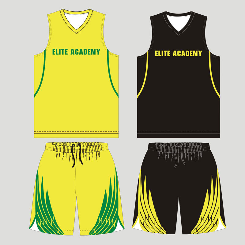 Customized Sublimated Reversible Basketball Uniform for Team Players