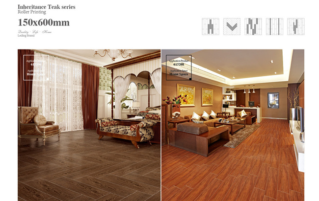 Non Slip Wood Look Building Material Ceramic Tile