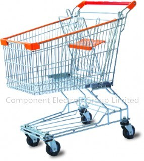 Nickel Plated Supermarket Shopping Trolley