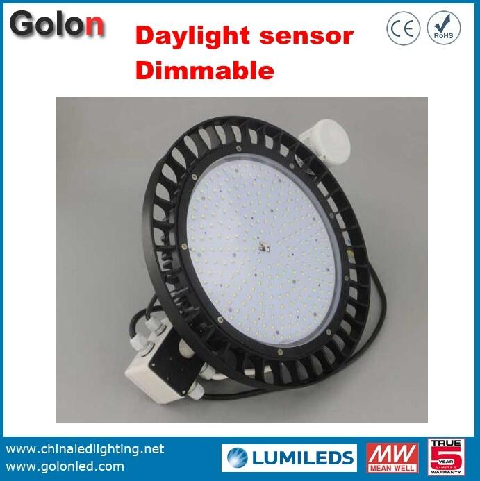 130lm/W Dimmable Sensor Waterproof UFO 200W LED High Bay Light