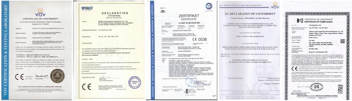 CE SGS 2.5HP 25L Direct Driven Air Compressor (ZFL-25)