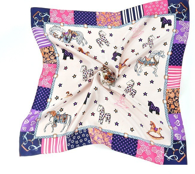 New Design Fashion Women Square Silk Scarf