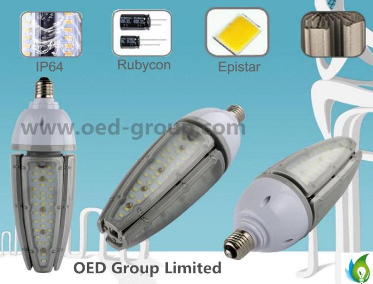 E39 E40 IP65 LED Corn Bulb 50W with AC100-300V and Aluminum Radiator