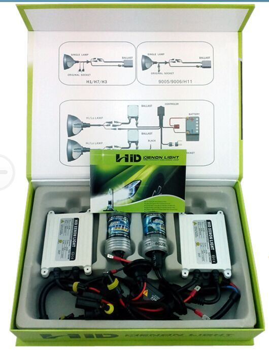 Yellow Green Pupple Pink HID Kit 6000k 8000k HID Xenon H4 H7 H11 H13 9004 9007