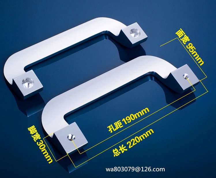 Glass Door Handle, Bathroom Door Handle, Office Door Handle, Al6007