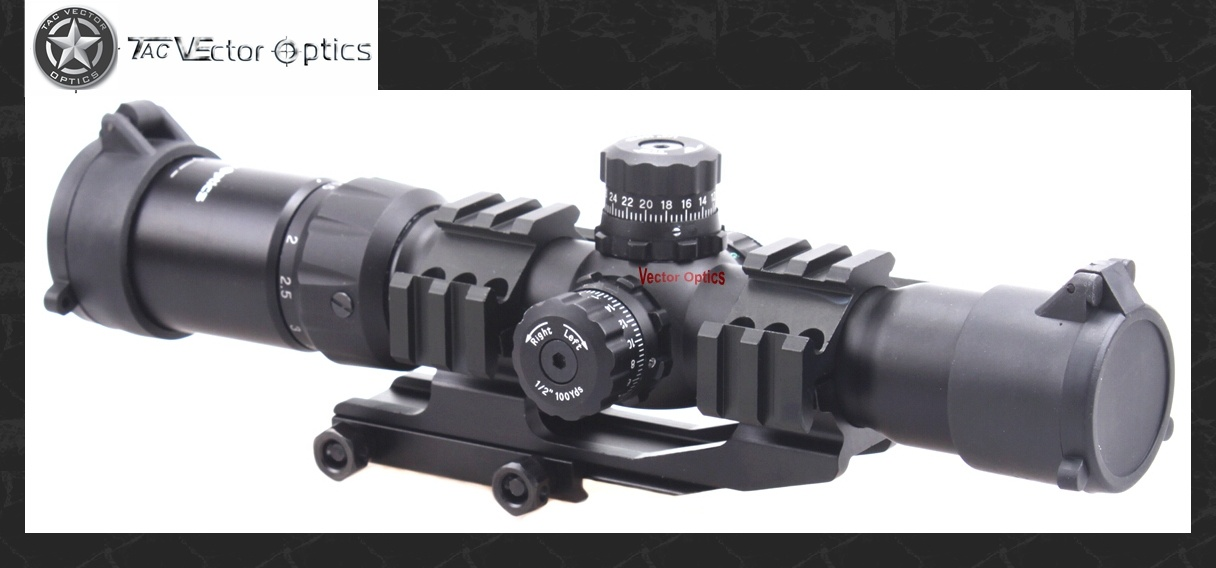 Vector Optics Mustang 1.5-4X 30mm Ar15 M4 Tactical Rifle Scope