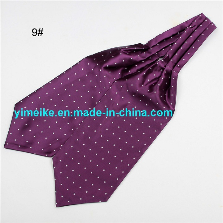 New Arrival Polyester Jacquard Multi Patterns Drawing Necktie Mens Ascot Tie Cravat