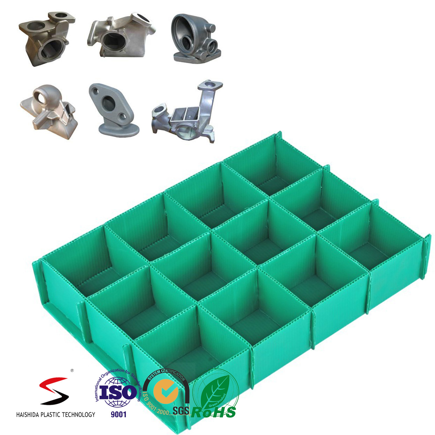 Twinwall Plastic Sheet Box Corrugated PP Board Box with Lid