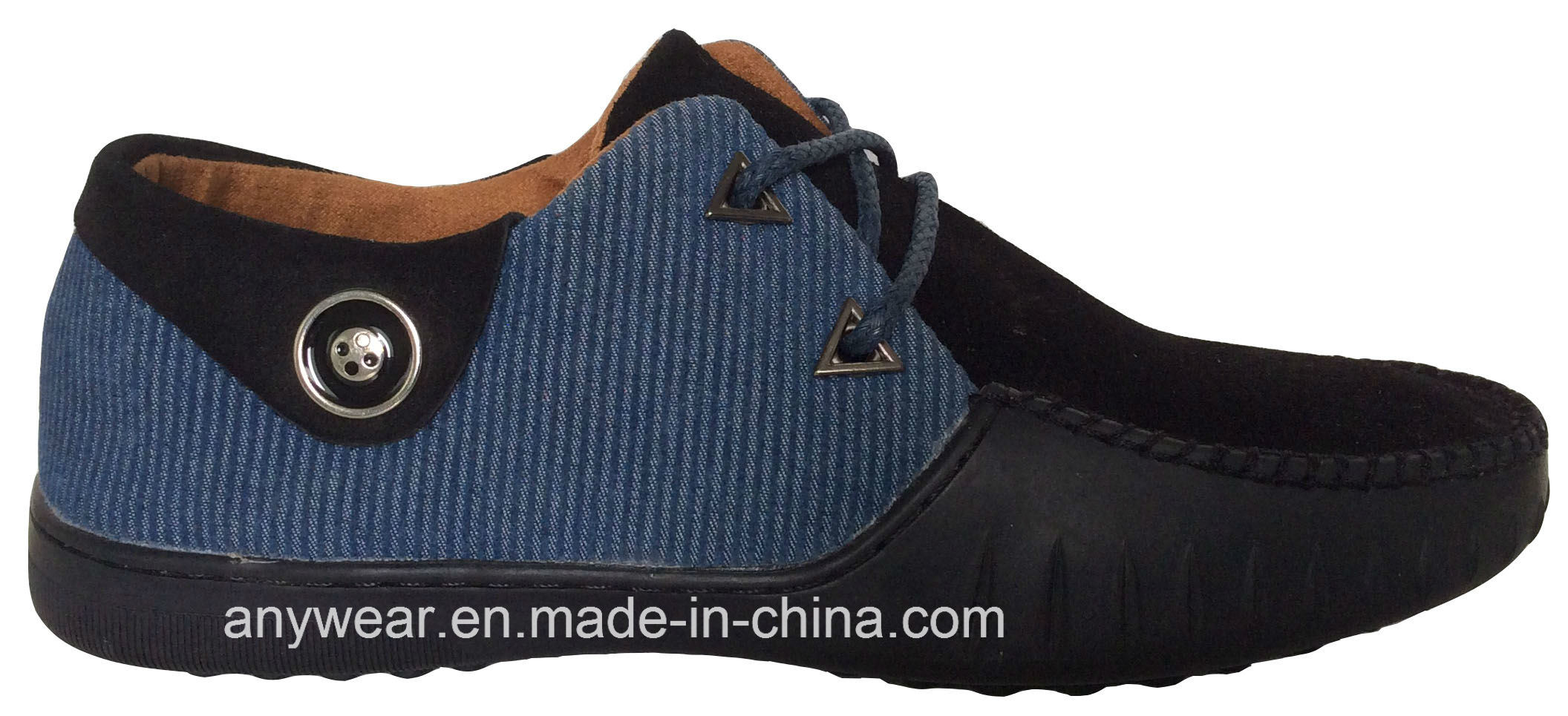 Leisure and Comfort Shoes for Men Leather Casual Footwear (815-9909)
