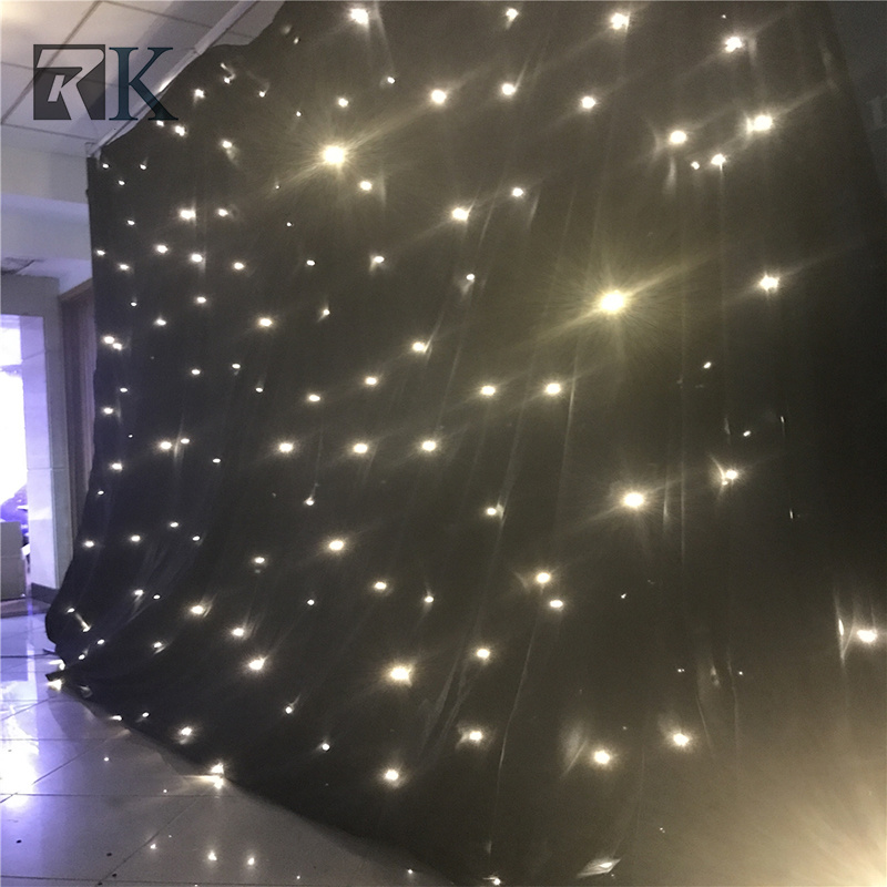 Light up Cloth LED Star Curtain Backdrop Wedding Decoration