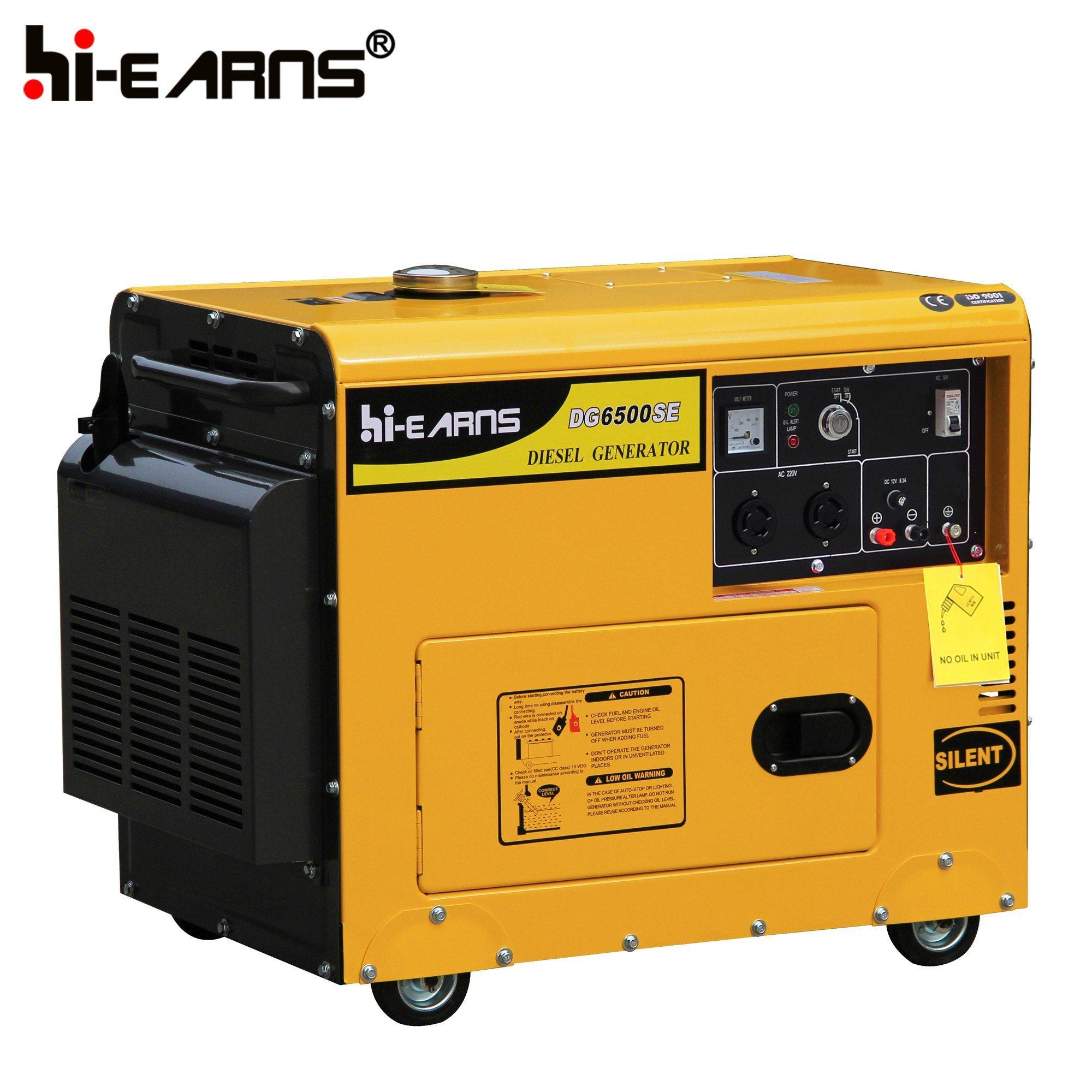 China 5kw Automatic Start Diesel Power Generator Set DG6500SE ATS